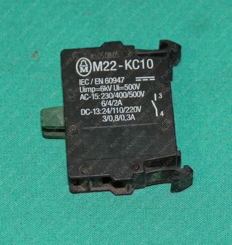 Klockner Moeller Eaton, M22-KC10, Contact Block Switch Push Button