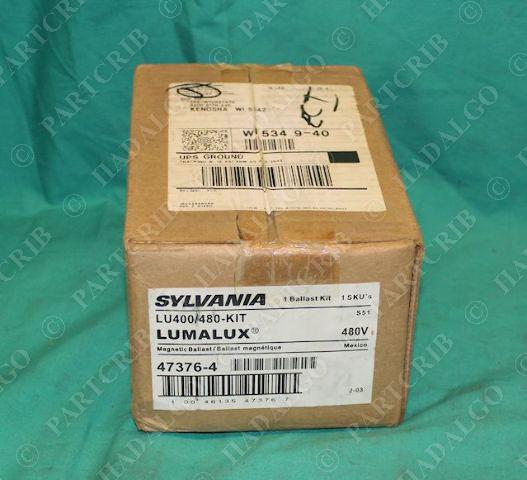Sylvania LU400/480 Ballast Kit 480V Lumalux Magnetic  NEW