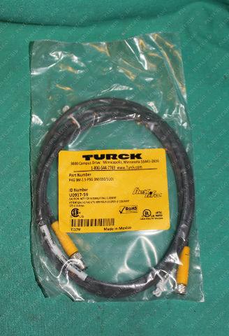 Turck, PKG 3M-1.5-PSG 3M/S90/S101, U0917-59, Flex life Cable 3p Cordset Male Female Extension
