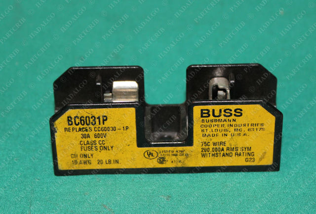 Bussmann, BC6031P, Fuse Block Holder 30A 600V