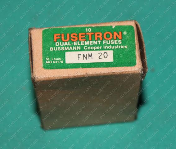 Bussmann, FNM 20, Fusetron Cooper Buss 20a Amp Dual Element Fuse