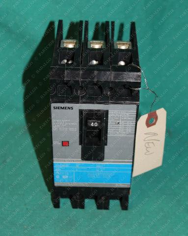 Siemens, ED43B040 Circuit Breaker 40A 480V 3Pole