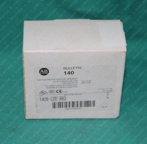 Allen Bradley, 140M-C2E-B63, Motor Circuit Protector, 4.0-6.3 Amp, C Frame, 3-Pole, 600 VAC