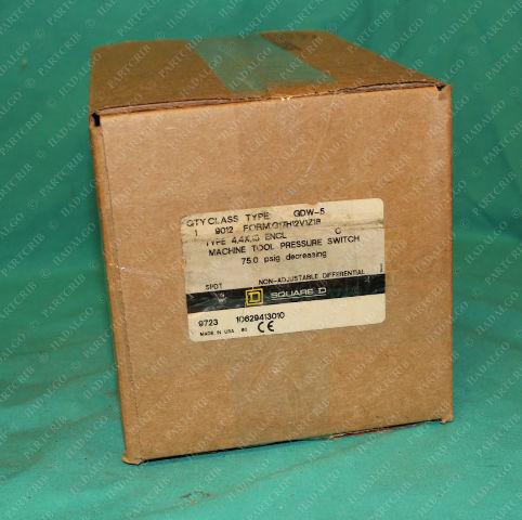 Square D, 9012-GDW-5, Pressure Switch