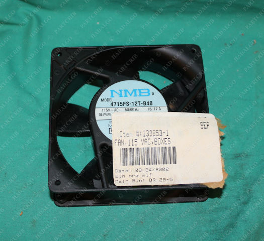NMB, 4715FS-12T-B40, 133253-1, Box Cooling Computer Axial Fan 115VAC IMC Minebea