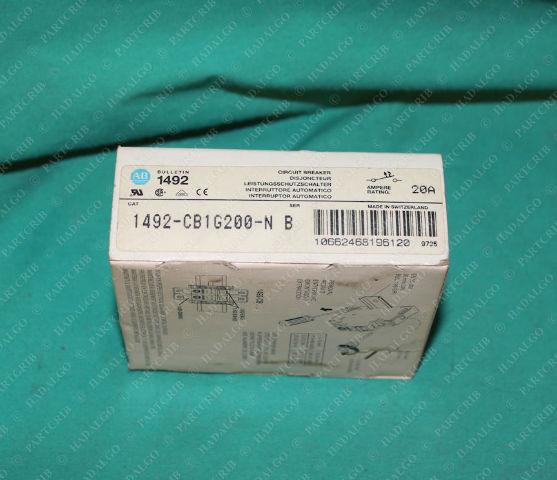 Allen Bradley, 1492-CB1G200-N, Circuit Breaker 20A 2p 2 Pole 20 Amp