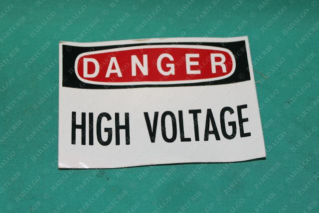 """3M, Danger High Voltage Safety Sign Sticker 3x5 3"""" x 5"""""""