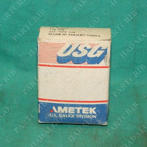 "Ametek USG 162988 2"" P500K Pressure Gauge 100psi 0-100 pis .25"" 1/4NPT NEW"