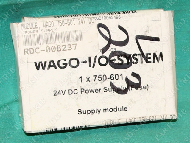 Wago, 750-601, 24v dc Power Supply Module Fuse 24 vdc 24vdc NEW