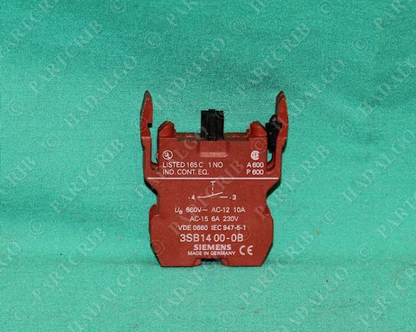 Siemens 3Sb14-00-0B Contact Block Button Switch 1 No 3Sb1400-0B