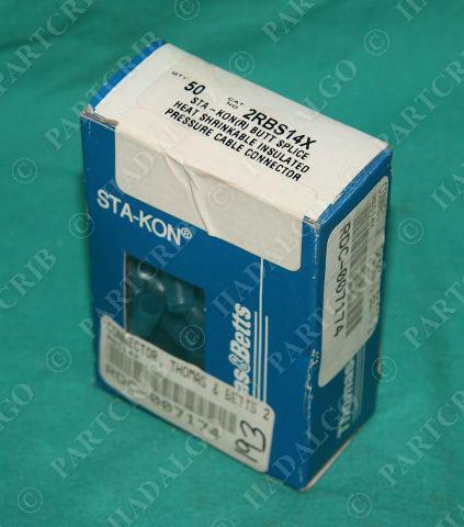 Thomas & Betts 2RBS14X Sta-Kon Butt Splice Connector 50/box NEW