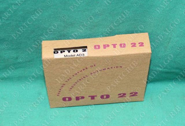 Opto 22, AD3, Input Module 4-20ma NEW