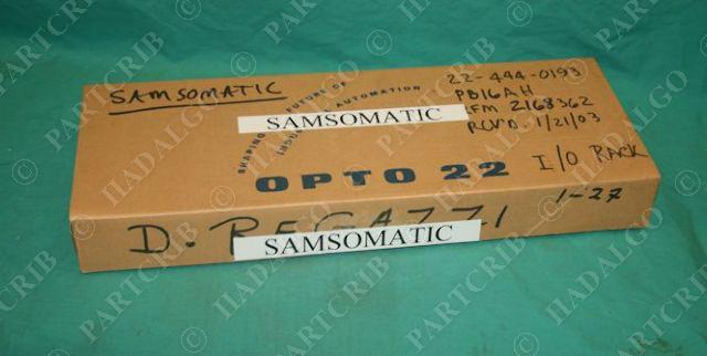 Opto 22, PB16AH, SAMSOMATIC Quad Pak Mounting Rack NEW