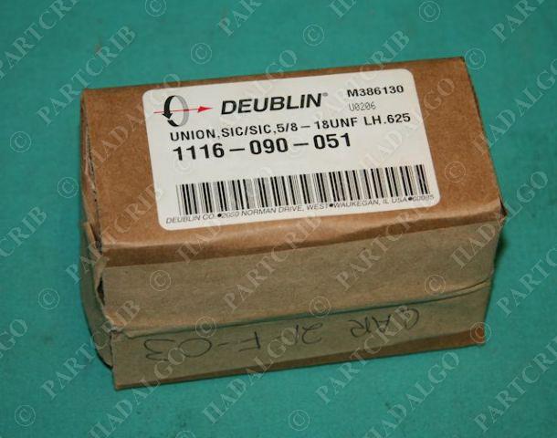 Deublin, 1116-090-051, Hydraulic Rotary Union SIC/SIC 5/8-18UNF LH.625 NEW