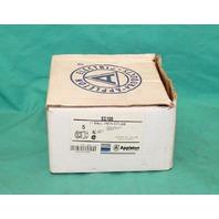 "Appleton EC100 1"" Mall Iron Couplings 3 Piece Conduit Union New box of 5 NEW"