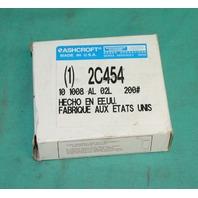 Ashcroft 2C454 Pressure Gauge liquid filled 200psi 200 psi 10 1008AL 02L brass