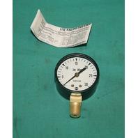 """Ametek, 6X830, Pressure Gauge 30 In HG 14450 Vacuum 0-30 1/4"""" ANPT NEW"""