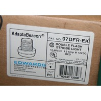 Edwards 97DFR-EK AdaptaBeacon Beacon Stack Light Red Strobe Double Flash Strobe