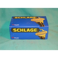 Schlage F10 PLY 626 Passage Latch Hall Closet  Door Knob Satin Plymouth Chrome