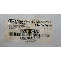 Hydac Hycon 02060432 Hydraulic Filter 5.03.18D10BN RxH10EF81-S18-12MGB 6321 P174