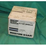 Boston Gear Speed Reducer F7107.5KB4J6 Nema 42CZ 7.5 ratio 102lbs/in .483hp NEW