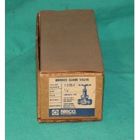 "Nibco T-235-Y Bronze Globe Valve 1/4"" Threaded End .25"" NEW"