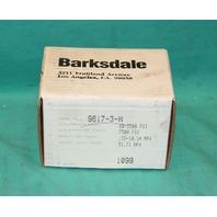 Barksdale, 9617-3-W, Pressure Vacuum Switch Sensor 15Amp 125/250/480VAC NEW