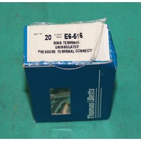 Thomas & Betts E6-516 Ring Crimp Terminal Uninsulated 20pcs/box NEW