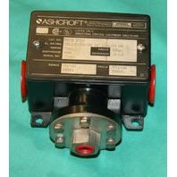 Ashcroft B424B XFSJK Pressure differential switch NEW