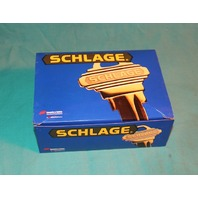 Schlage Flair F10 FLA 605 Hall Closet Passage Flair Door Lever Bright Brass Knob