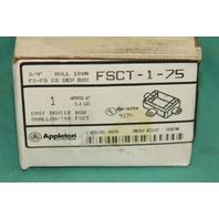 Appleton FSCT-1-75 Cast shallow device box iron FS-FD