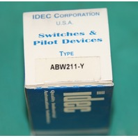 Idec ABW211-Y Push Button yellow pilot switch NEW