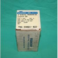 """Ashcroft 30EL60R025-0/250 3"""" Bimetal Thermometer 7NA-E00664-022 0-250 F NEW"""