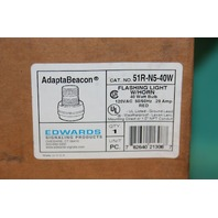 Edwards Adapta Beacon 51R-N5-40W Signal Light w/Horn Beacon 120VAC red Lamp NEW