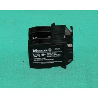 Klockner Moeller EK01 Auxiliary Contact Switch Assembly 600VAC 10A NEW