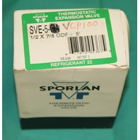 Sporlan Thermostatic Expansion Valve SVE-5-VCP100 NEW