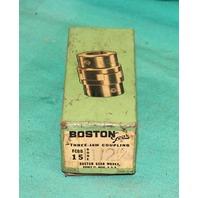 """Boston Gear FCBB15 Three-Jaw Coupling 1/2"""" Bore FCP-FCBB-15 .5"""" Brass Spider"""