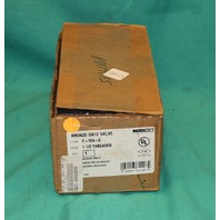 "NIBCO T-104-0 Threaded Gate Valve 1 1/2"" 1.5"" Brass Bronze O NEW"