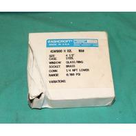 "Ashcroft, 45W1000 H 02 L, Pressure Gauge 4-1/2"" 0-160 psi 4.5""  NEW"