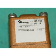 Versa, VBT-3303, Three-Way Valve Foot Pneumatic NEW