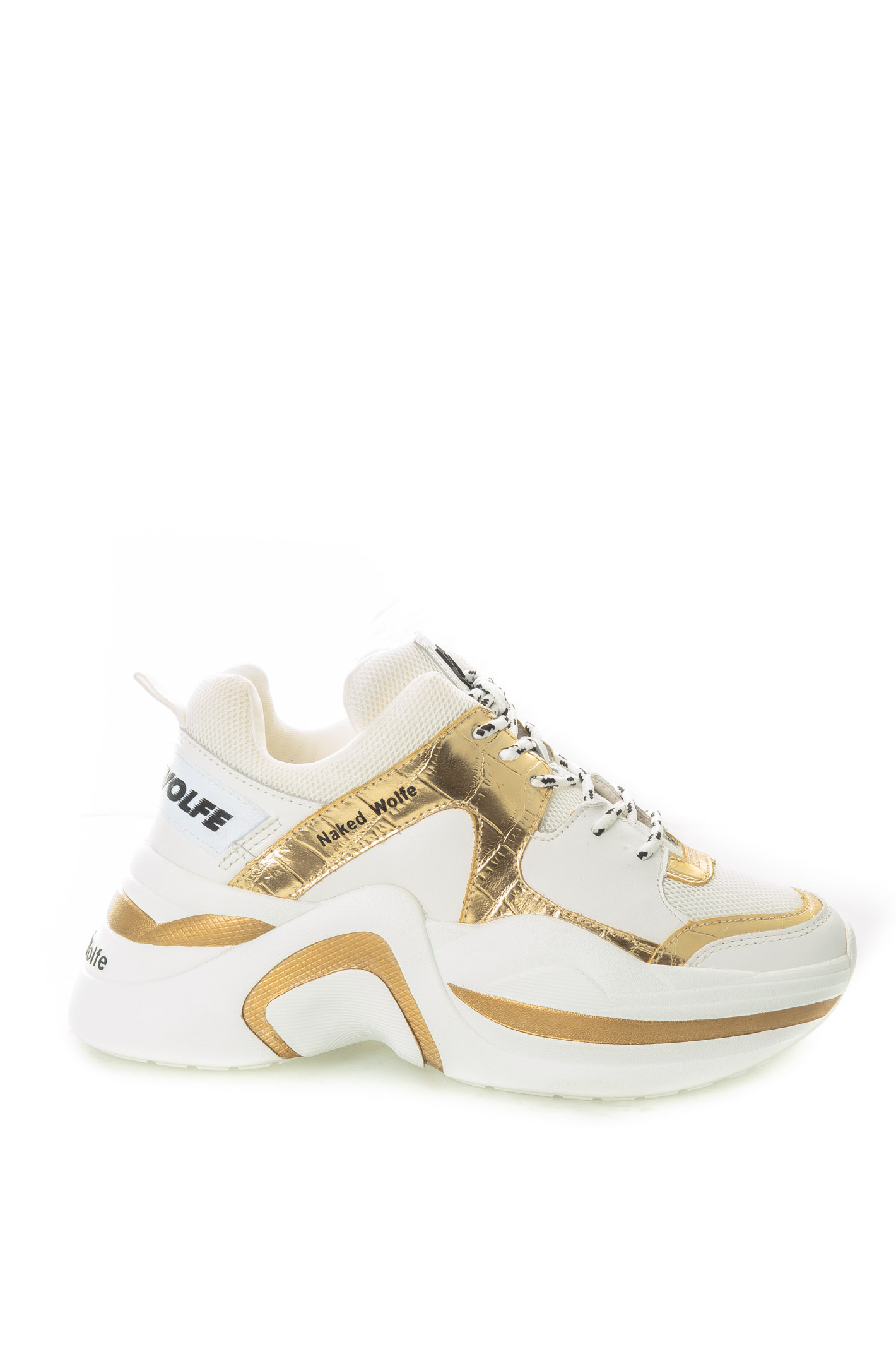 TRACKPELLE/LAM-WHT/GOLD