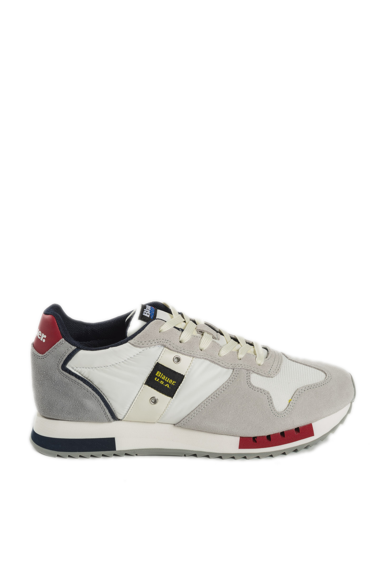 QUEENS01SUEDE-WHITE/RED/NAVY