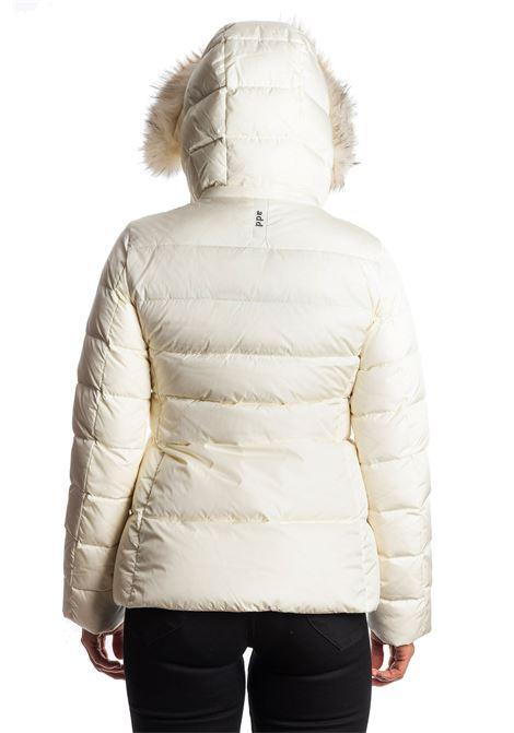 Piumino corto pelliccia bianco ADD | Piumini | 003PIUMA-1132