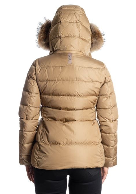Piumino corto pelliccia camel ADD | Piumini | 003PIUMA-2034