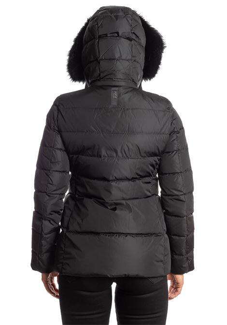 Piumino corto pelliccia nero ADD | Piumini | 003PIUMA-8506