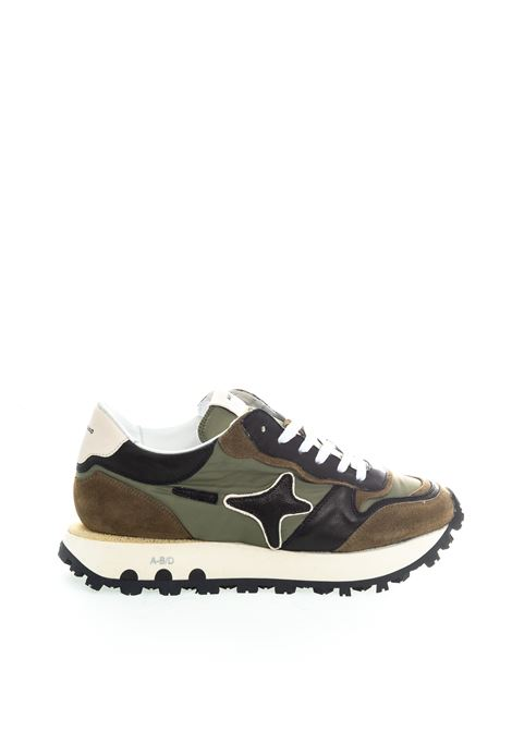 Ama Brand sneaker nylon verde AMA BRAND | Sneakers | 1708CAM/TES-VERDE/CUOIO