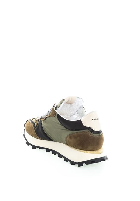 Sneaker nylon verde AMA BRAND DELUXE | Sneakers | 1708CAM/TES-VERDE/CUOIO