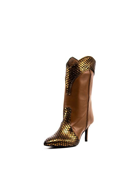Stivaletto bronzo nappa  tacco 70 ASHLEY COLE | Stivali | 109DELHI/NAPPA-BRONZO