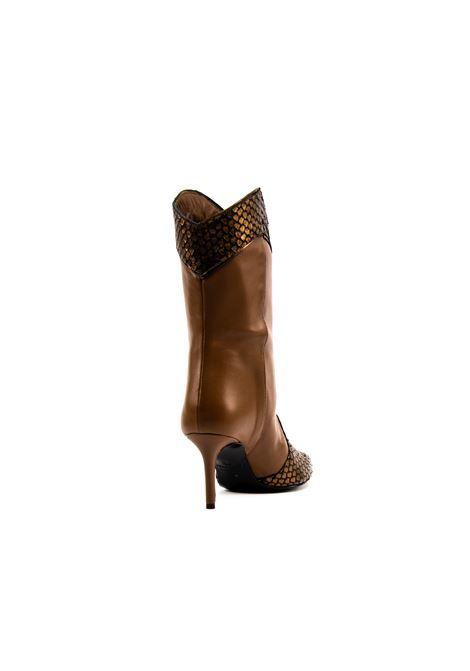 Stivaletto bronzo nappa/pitone tacco 70 ASHLEY COLE | Stivali | 109DELHI/NAPPA-BRONZO