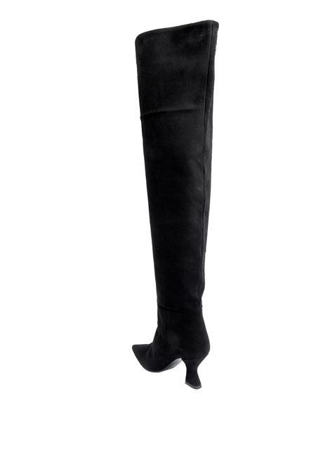 Stivale t70 camoscio nero ASHLEY COLE | Stivali | 537VELOUR-NERO